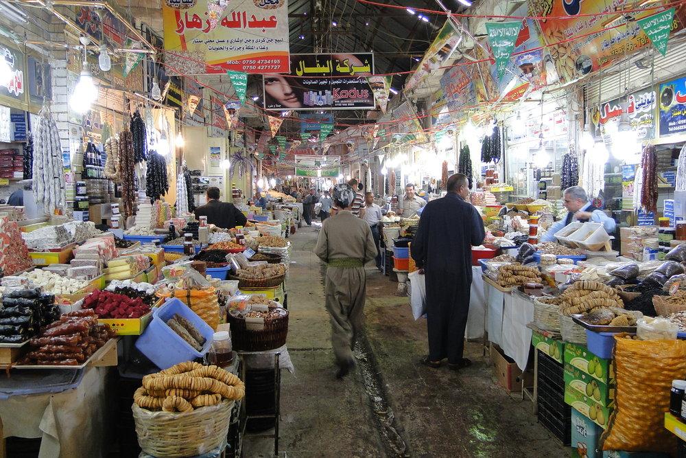 Bazaar in Erbil