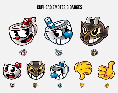 Cuphead Emotes & Badges    Twitch emotes & steam badges for  StudioMDHR