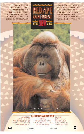 """<span class=""""av_client"""">Los Angeles Zoo</span> Poster for Red Ape Rain Forest"""