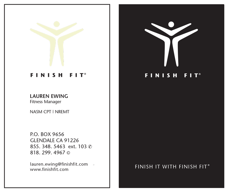 """<span class=""""av_client"""">Finish Fit Business Card</span> Boot camp and Personal Training"""