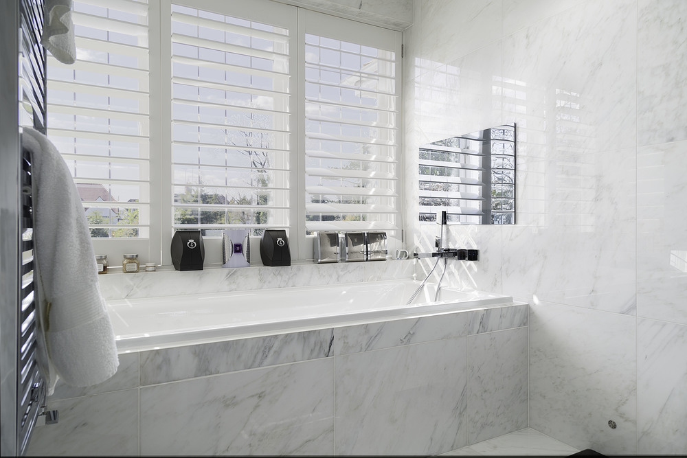 Hampstead, London, marble bathroom