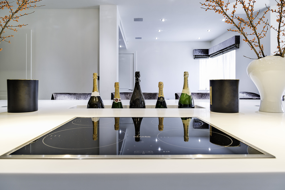 London luxury kitchen champagne
