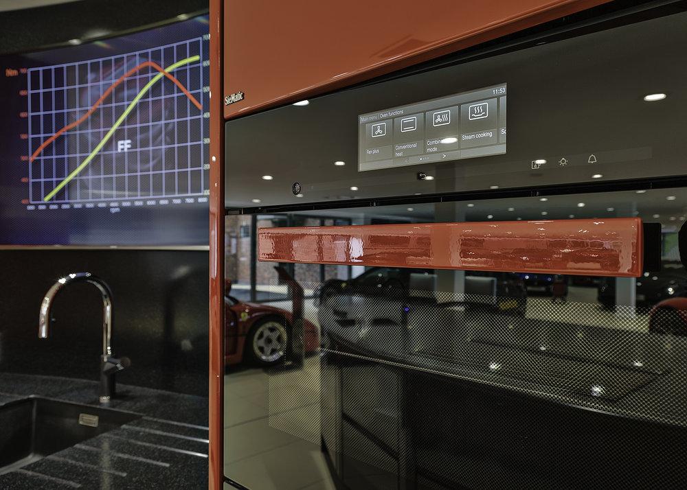 Stratstone Ferrari Wilmslow oven detail
