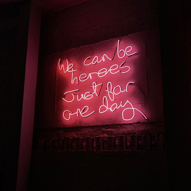 Why do I love @grind? Let me count the ways. ☕️ and inspirational neon. #grindcoffee #bowie #neon
