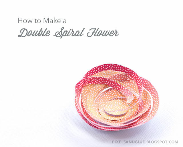 How to make a double spiral flower from paper by @pixnglue