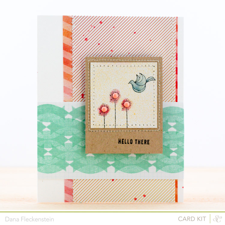 Handmade hello card by @pixnglue using the Studio Calico Neverland Kit
