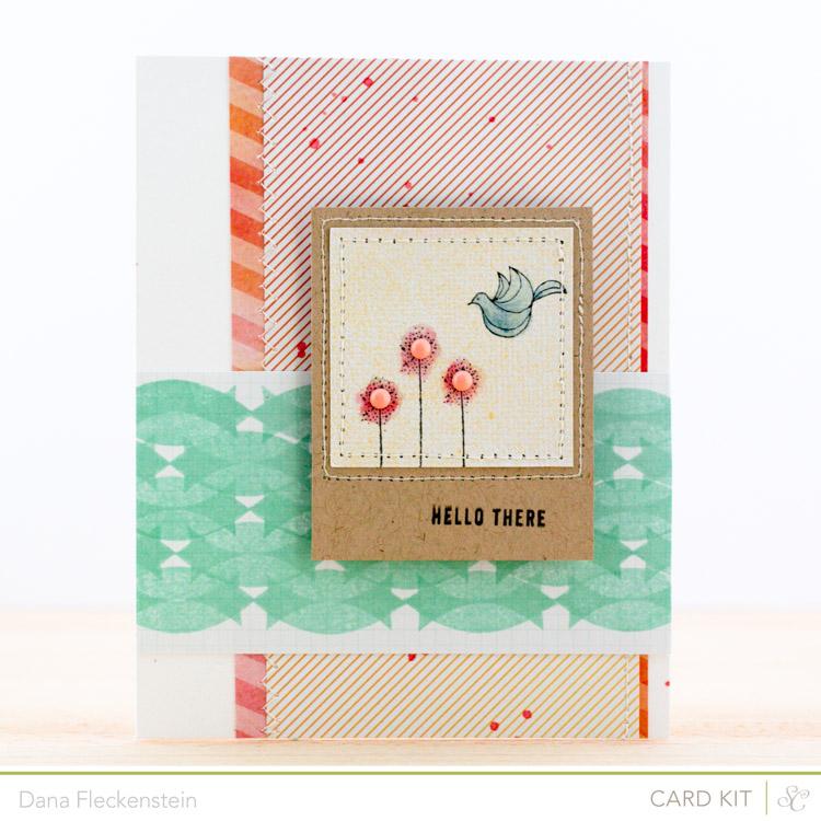 Handmade hello card by @pixnglue using the Studio Calico Neverland Kit