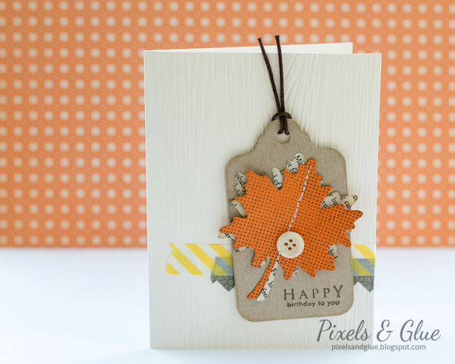 Handmade Fall Birthday Card with Paper Maple Leaves