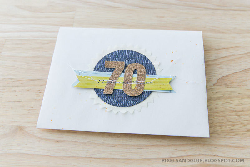 Happy 70th Birthday card by @pixnglue