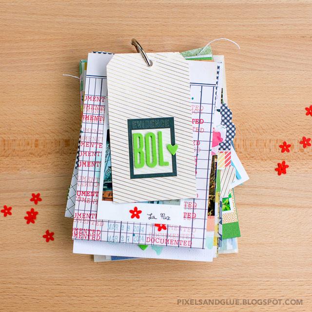 Travel Mini Album by @pixnglue using Studio Calico Office Hours scrapbook kit
