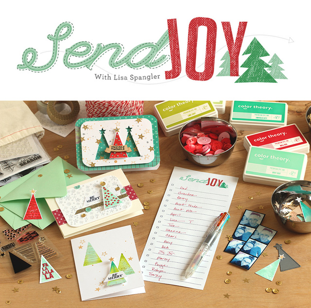 Send Joy Christmas Card Workshop at Studio Calico