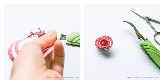 Pixels  Glue How to Double Spiral Flowers
