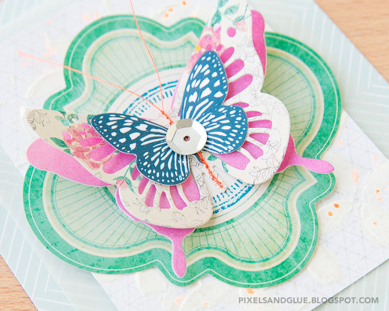 butterfly card by @pixnglue