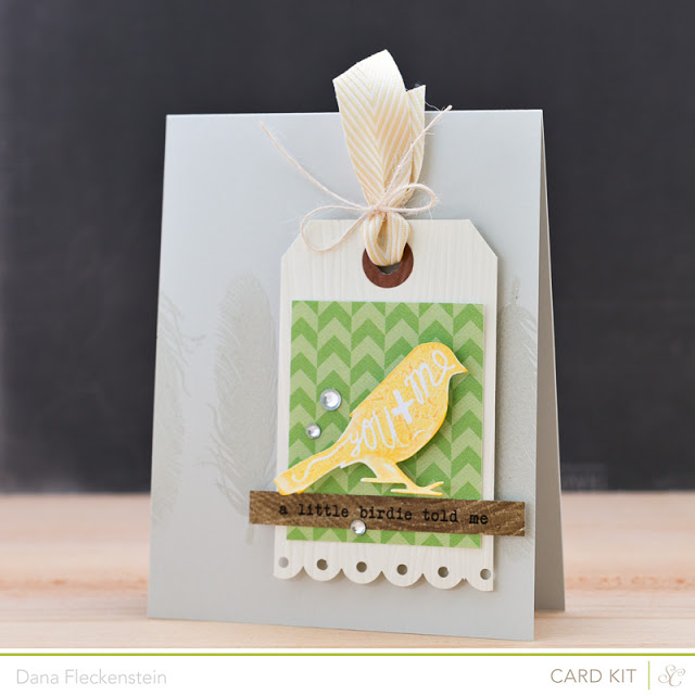 Handmade A Little Birdie Told Me Card by @pixnglue using Studio Calico's Valley High Kits
