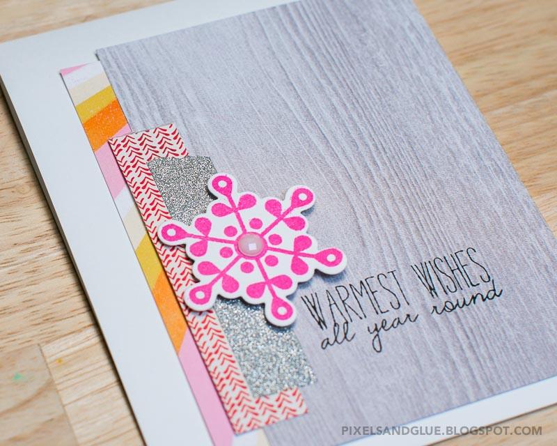 Happy Scrappy Friends | Winter card by @pixnglue