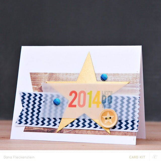 New Year's card using Studio Calico Copper Mountain Card Kits by @pixnglue