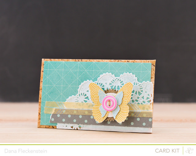 Handmade Decorated Mini Envelope with Note Card by @pixnglue using Studio Calico's Valley High Kits