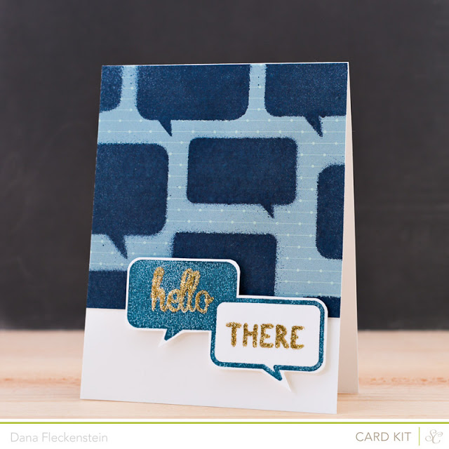 Handmade Hello There Speech Bubble Card by @pixnglue using Studio Calico's Valley High Kits