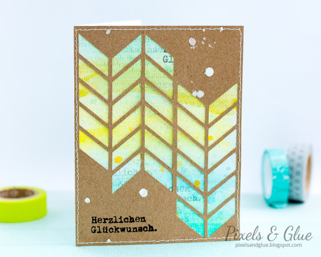 "handmade ""masculine"" birthday card with Silhouette Cameo die-cut"