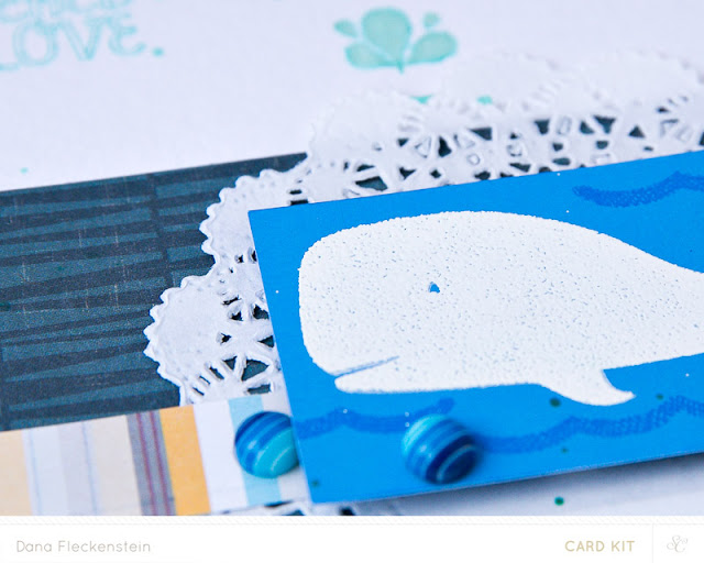 Baby shower card using Studio Calico Copper Mountain Card Kits by @pixnglue