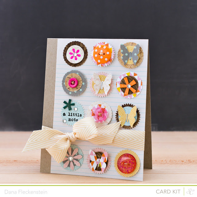 Handmade A Little Note Card by @pixnglue using Studio Calico's Valley High Kits