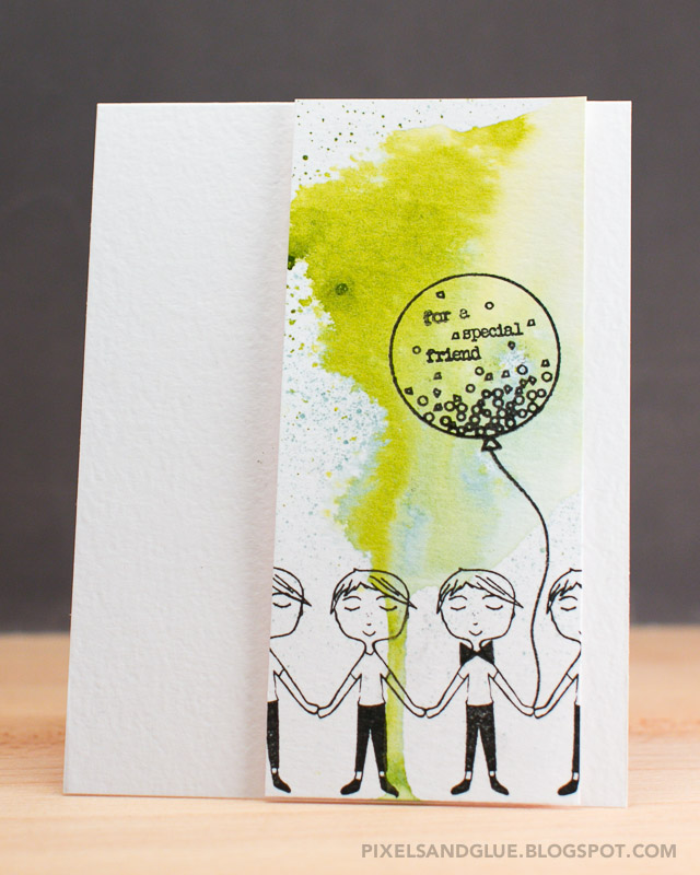 For a Special Friend card by @pixnglue