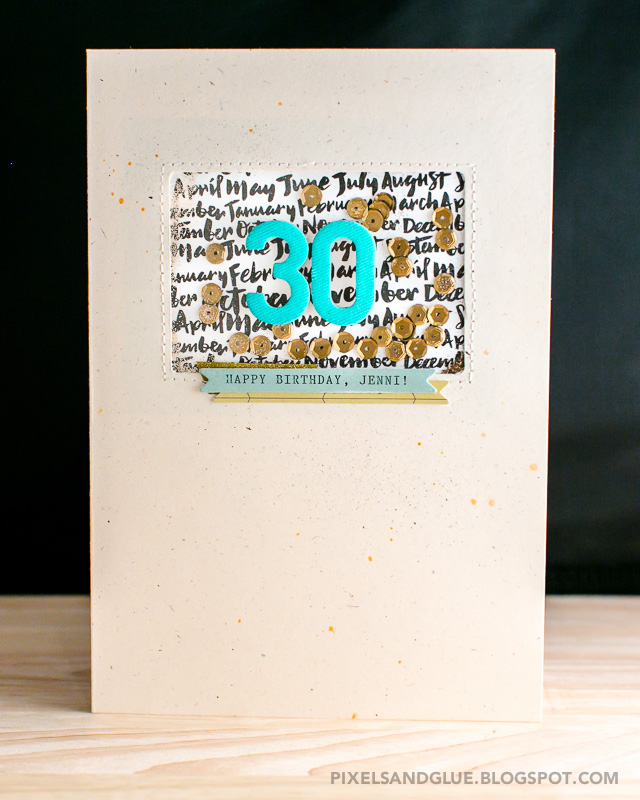 Sequin and glitter shaker card by @pixnglue (with tutorial)
