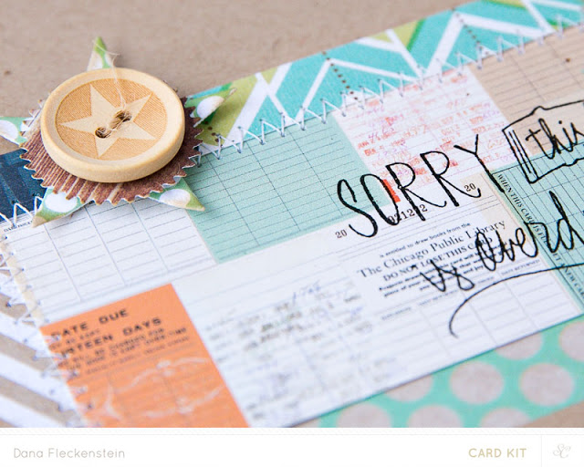 Belated Wishes card using Studio Calico Copper Mountain Card Kits by @pixnglue