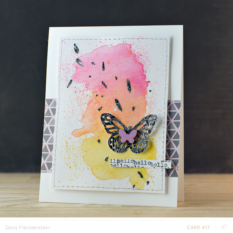 Hello, hello Card by @pixnglue #cardmaking