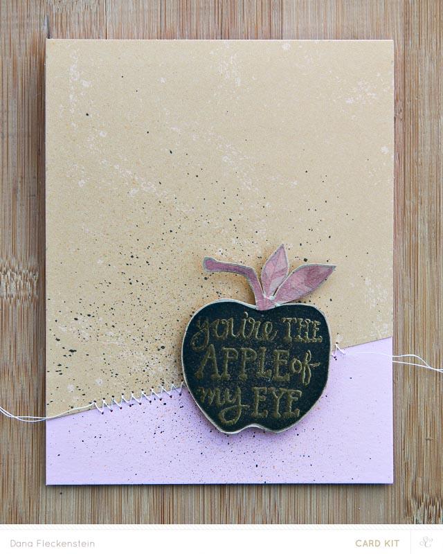 Apple of My Eye | Handmade Card by @pixnglue