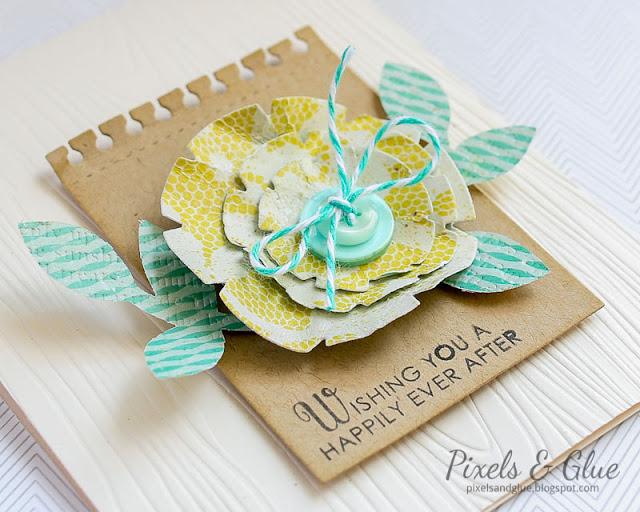 Pixels and Glue - Handmade Wedding Card