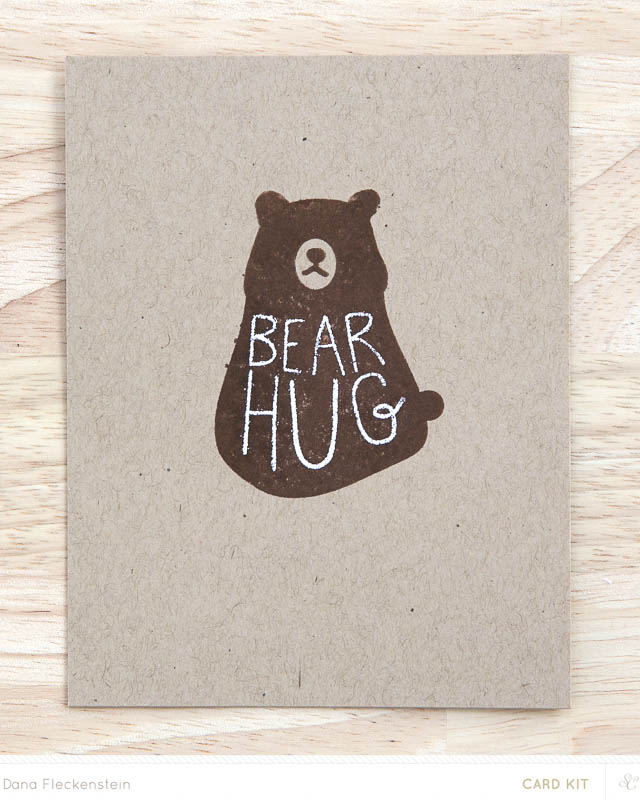 Bear Hug Notecard by @pixnglue for Studio Calico
