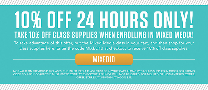 Studio Calico Mixed Media Class Offer
