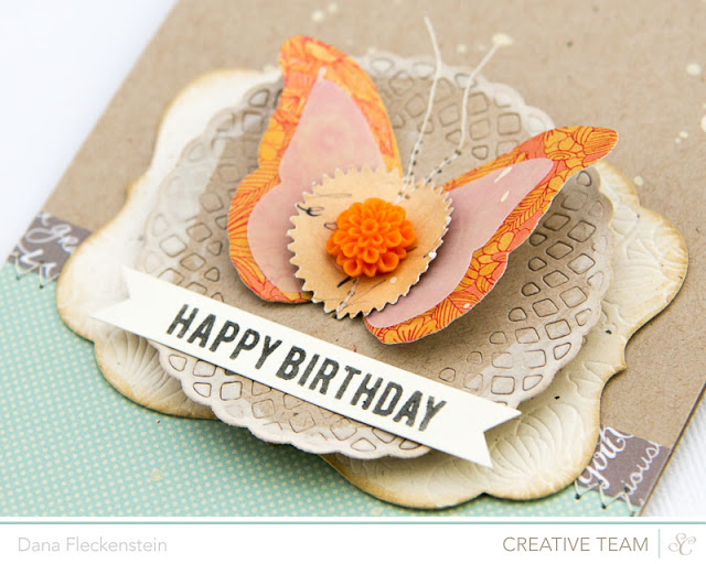 Handmade Summer Birthday Card with Embossing and a Butterfly using Studio Calico's Sundrifter Line