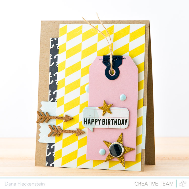 Handmade Maritime Birthday Card by @pixnglue using Studio Calico's Atlantic Collection