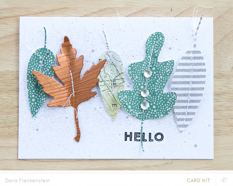 "Handmade fall card just to say ""hello"" made by @pixnglue"