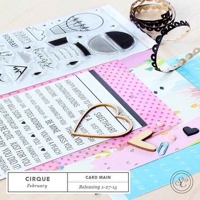 Studio Calico Cirque Card Kit Sneaks #studiocalico