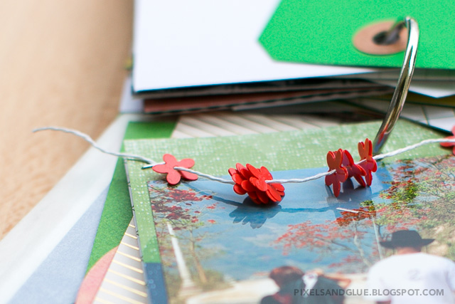 Travel mini album by @pixnglue using @Studio_Calico Office Hours kit