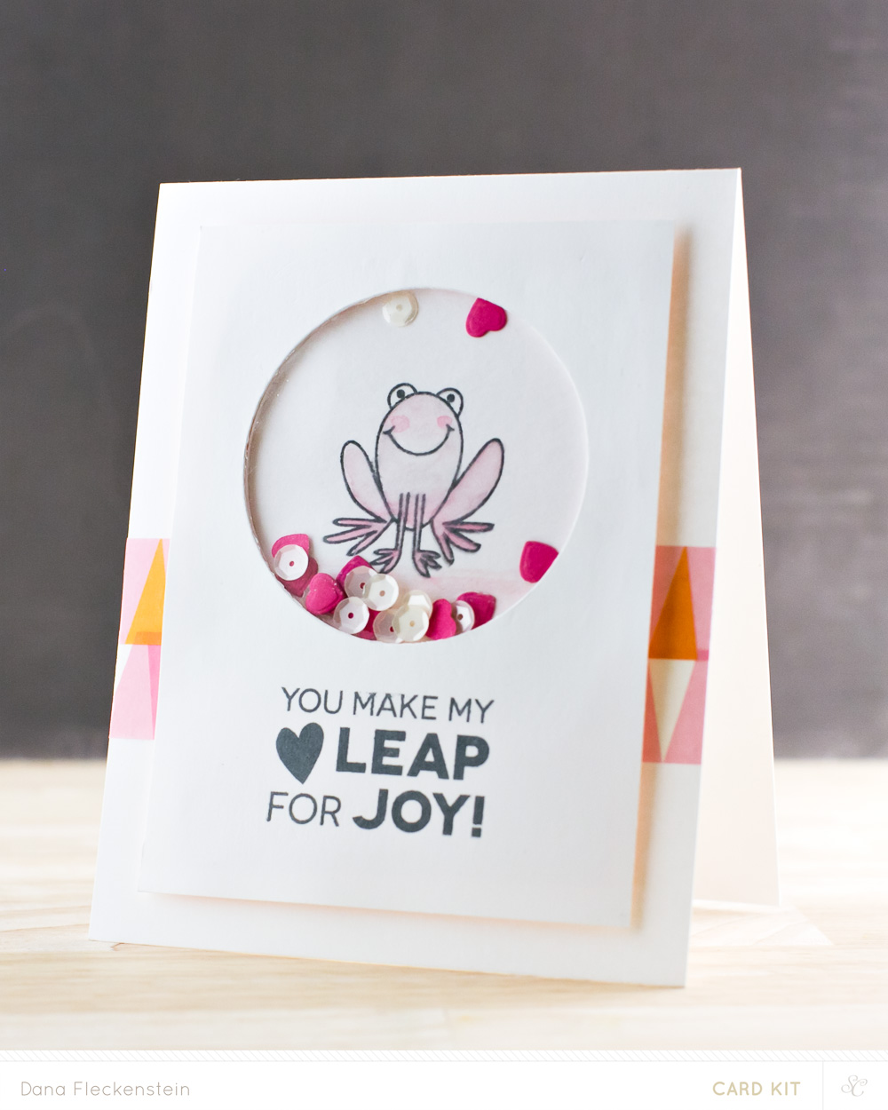 Leaping Hearts Shaker Card