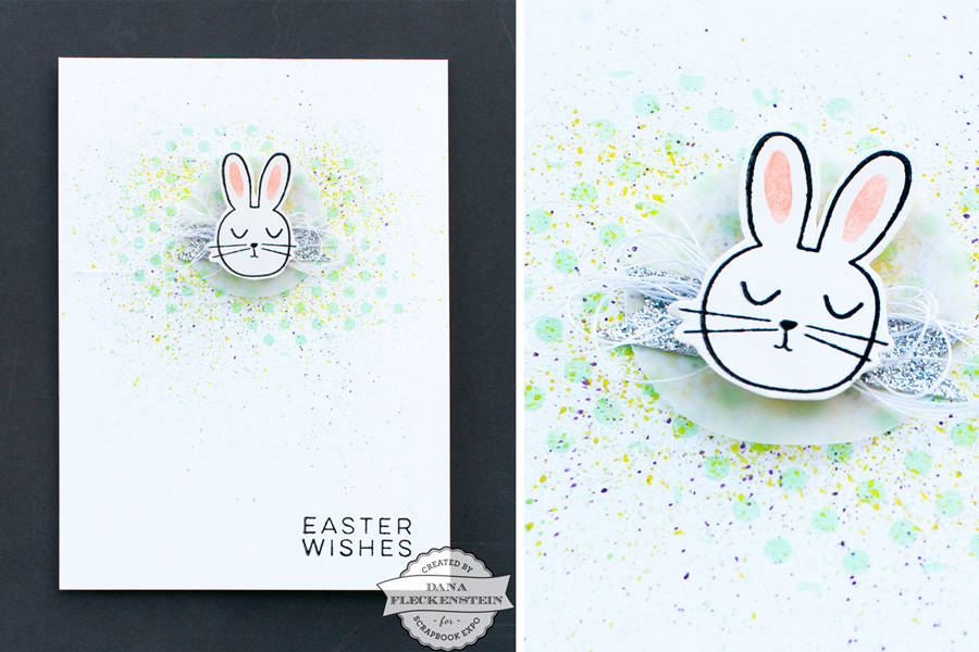 Bunny Easter Card by @pixnglue for @scrapbookexpo #eastercard