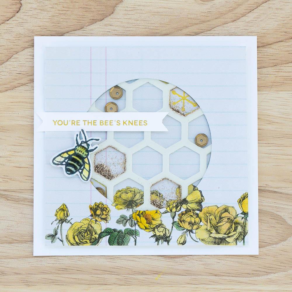 Bee's Knees Shaker Card