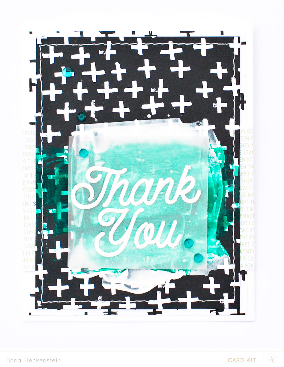 Mixed Media Thank You Card