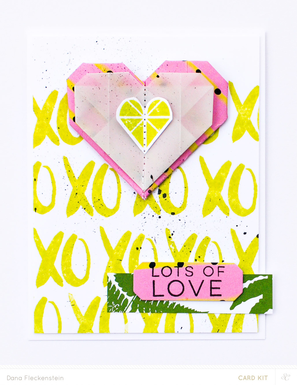 Origami Hearts Card