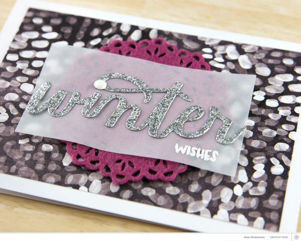 Winter Wishes Card by @pixnglue