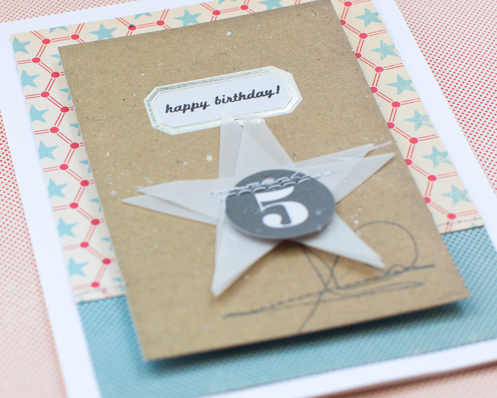 Boy Birthday Card - Detail