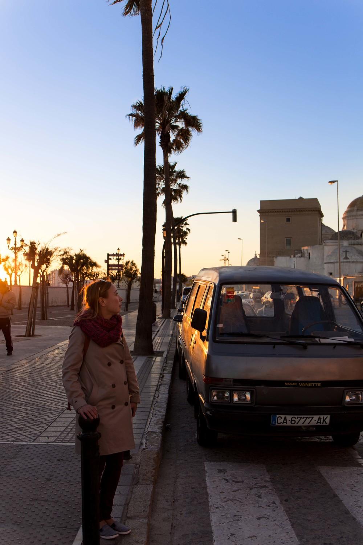 Cádiz - Lisa y el atardecer