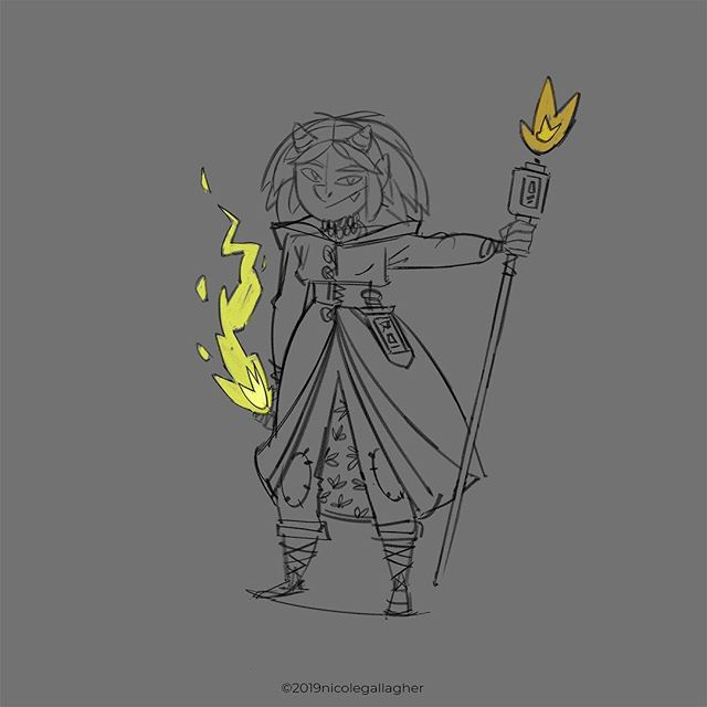 Uh, forgot to post this one yesterday. She's a mage/cleric. Don't know how that'll work, but I think it would be interesting if she were conflicted between her nature and the god she's pledged herself too. #dnd #dndart #dndcharacter #fantasy #fantasyart #ilovefantasyart #dungeonsanddragons #dungeons #d20 #characterdesign #conceptart #digitalart #artwork #photoshop #sketch #instageek #instaart  #artistsoninstagram
