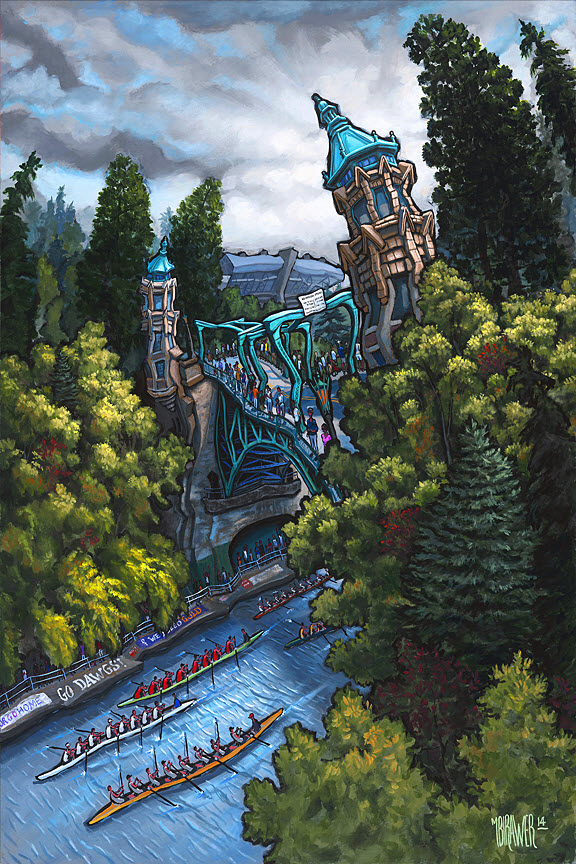 Montlake Cut — Seattle#50x34  $1,000  Signed Limited Edition #36x24  $500#24x16  $250