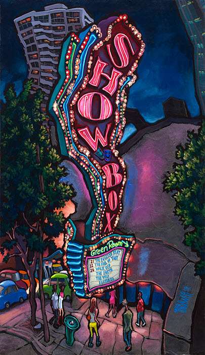 Showbox — Seattle#54x32  $1,000  Signed Limited Edition# 40x24  $500#26x15  $250