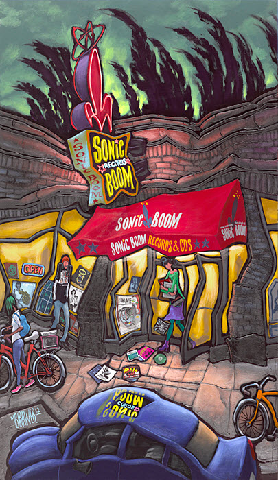 Sonic Boom Records — Seattle#54x32  $1,000 Signed Limited Edition# 38x24  $500#26x15  $250